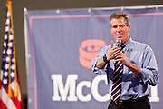 05 MARCH 2010 -- PHOENIX, AZ: Sen. Scott Brown (CQ) speaks on behalf of Sen. John McCain at a McCain election rally at Grand Canyon University in Phoenix Friday. McCain is facing a tough primary battle from former Republican Congressman JD Hayworth. McCain has Scott Brown (R-MA) and Sarah Palin campaigning for him. Both men are courting the Tea Party activists but so far the Tea Party has refused to endorse either candidate.  PHOTO BY JACK KURTZ