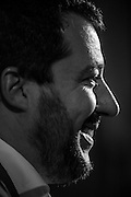 Matteo Salvini durante un incontro a Roma per il no al Referendum costituzionale<br />