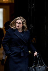 © Licensed to London News Pictures. 12/03/2019. London, UK. Secretary of State for International Development Penny Mordaunt leaves 10 Downing Street after the Cabinet meeting. MPs will get a second meaningful vote on Prime Minister Theresa May's Brexit deal this evening. Photo credit: Rob Pinney/LNP