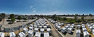 Tiny Homes in North Hollywood. Chandler Blvd. site. Alexandria park site.<br /> 3/18/2021 North Hollywood, CA USA<br /> (Photo by Ted Soqui)