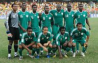 Photo: Steve Bond/Richard Lane Photography.<br />Ghana v Nigeria. Africa Cup of Nations. 03/02/2008. Nigeria line up