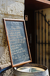 Menu board outside a traditional Tapas bar in Vitoria Gasteiz, Spain<br /> <br /> (c) Andrew Wilson | Edinburgh Elite media