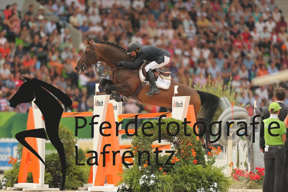 Arroyave, Dayro, Eldorado van het Vijverhof<br /> Normandie - WEG 2014<br /> Springen - Finale III<br /> © www.sportfotos-lafrentz.de/ Stefan Lafrentz