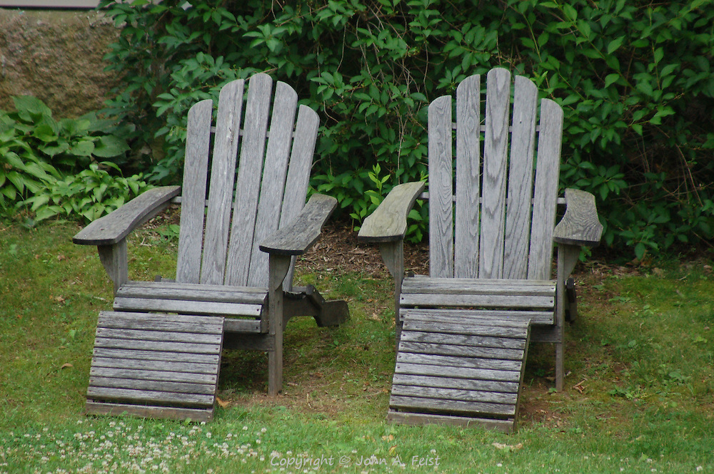 A pair of very inviting Adirondack chairs in Stone Creek, CT