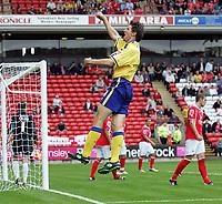Photo: Paul Thomas.<br /> Barnsley v Southampton. Coca Cola Championship. 19/08/2006.<br /> <br /> Grzegorz Rasiak celebrates his goal for Southampton.