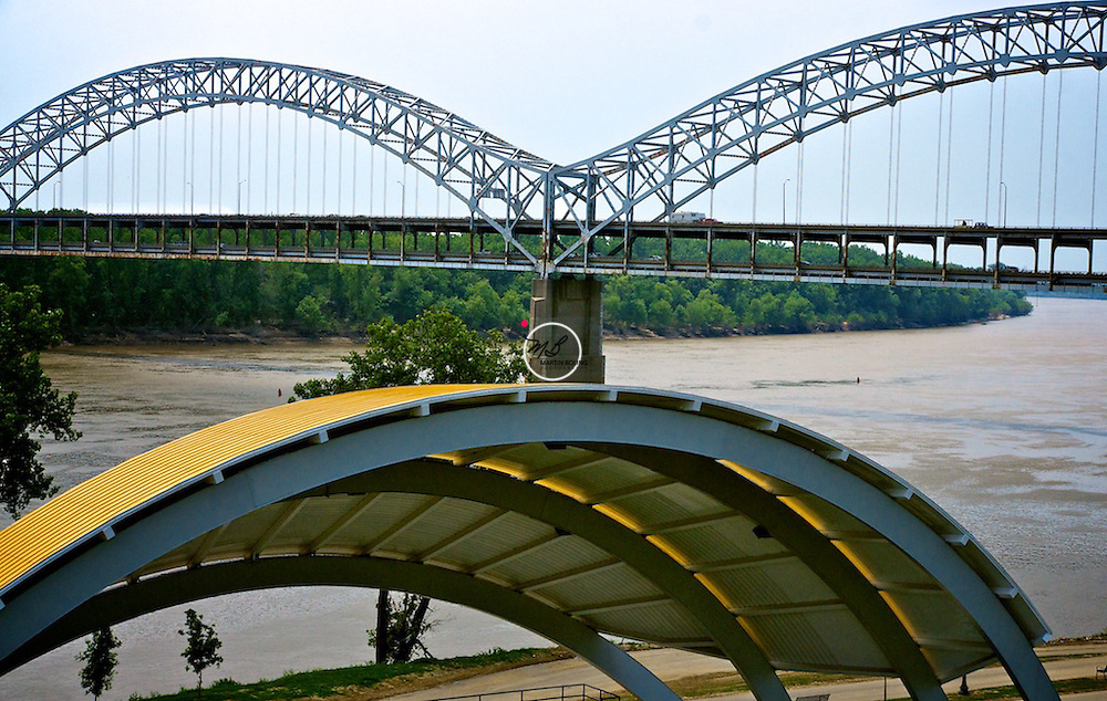 The I-64 Sherman Minton Bridge Louisville Kentucky Indiana