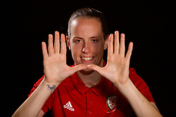 NEWPORT, WALES - Tuesday, August 28, 2018: Wales' goalkeeper Laura O'Sullivan poses for a portrait during a media session at the Coldra Court Hotel ahead of the final FIFA Women's World Cup 2019 Qualifying Round Group 1 match against England. (Pic by David Rawcliffe/Propaganda)