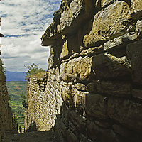 Entrance to huge Chachapoyan fort, predating Peru's Inca culture.