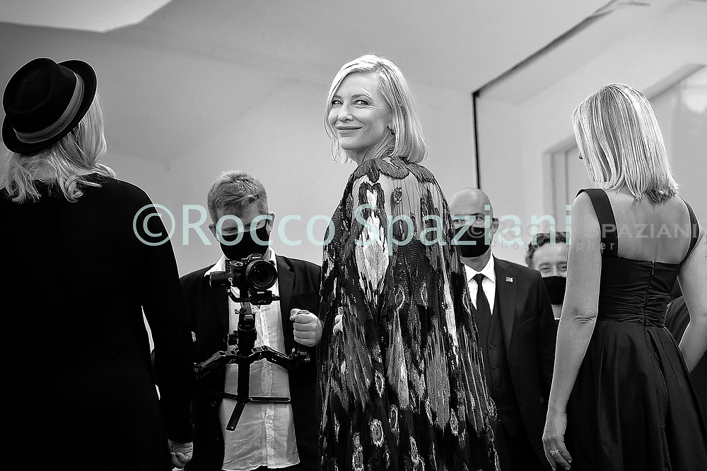 VENICE, ITALY - SEPTEMBER 12:Cate Blanchett walk the red carpet ahead of closing ceremony at the 77th Venice Film Festival on September 12, 2020 in Venice, Italy.<br /> (Photo by Rocco Spaziani)