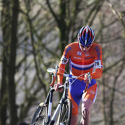 HOOGERHEIDE (NED) veldrijden<br />Thijmen Eising werledkampioen veldrijden 2008-2009