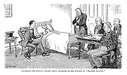 """Candidate for medical degree being examined in the subject of """"Bedside Manner."""""""
