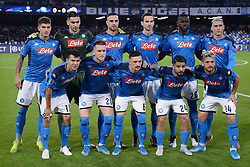 November 5, 2019, Napoli, Napoli, Italia: Foto Cafaro/LaPresse.5 Novembre 2019 Napoli, Italia.sport.calcio.SSC Napoli vs FC Salzburg - Uefa Champions League stagione 2019/20 Gruppo E, giornata 4 - stadio San Paolo.Nella foto: formazione Napoli...Photo Cafaro/LaPresse.November 5, 2019 Naples, Italy.sport.soccer.SSC Napoli vs FC Salzburg - Uefa Champions League 2019/20 season Group E matchday 4 - San Paolo stadium.In the pic: the players of SSC Napoli pose. (Credit Image: © Cafaro/Lapresse via ZUMA Press)
