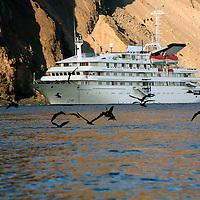 South America, Ecuador, Galapagos Islands. The m/v Galapagos Explorer II.