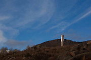 The THEMIS experimental solar power tower neae the town of Targassonne, in the department of Pyrénées-Orientales, south of France. Used first between 1983 and 1986, the plant went into hibernation for two decades, but is currently being 'rehabilitated' into a modern solar energy research facility. The new project, PEGASE, involves electricity generation using a gas turbine powered by solar energy. PEGASE aims to develop and test a prototype high-efficiency solar power plant, based on a hybrid cycle high temperature gas, a pressurized airsolar receiver and a gas turbine 2 MWel on the site of the THEMIS central tower.