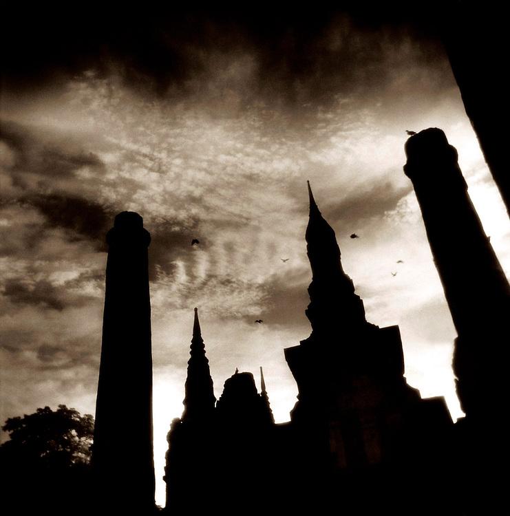 Silhouette #2 - Wat Mahathat- Sukothai, Thailand