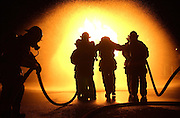 pvcfiretrain1/2-5-03/jp3/asec.  Recruits from the Albuquerque Fire Department Training Academy participate in a