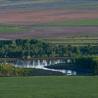 The Missouri River flows through ranch lands in central Montana.