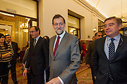 Mariano Rajoy, Spain's prime minister enters parliament