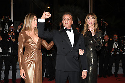 """Sistine Rose Stallone, Sylvester Stallone and Jennifer Flavin attending the screening of """"Rambo - First Blood"""" during the 72nd annual Cannes Film Festival on May 24, 2019 in Cannes, France. Photo by David Niviere/ABACAPRESS.COM"""