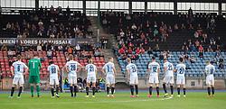 FC Helsingør stiller op før kampen i 1. Division mellem Hvidovre IF og FC Helsingør den 15. september 2020 på Pro Ventilation Arena, Hvidovre Stadion (Foto: Claus Birch).