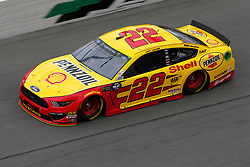 February 9, 2019 - Daytona, FL, U.S. - DAYTONA, FL - FEBRUARY 09: Joey Logano, driver of the #22 Team Penske Shell Pennzoil Ford Mustang, during Daytona 500 practice on February 9, 2019 at Daytona International Speedway in Daytona Beach, Fl. (Photo by David Rosenblum/Icon Sportswire) (Credit Image: © David Rosenblum/Icon SMI via ZUMA Press)