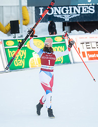 Michelle Gisin (SUI) celebrates at Trophy ceremony after 2nd Run of Ladies' Giant Slalom at 57th Golden Fox event at Audi FIS Ski World Cup 2020/21, on January 16, 2021 in Podkoren, Kranjska Gora, Slovenia. Photo by Vid Ponikvar / Sportida
