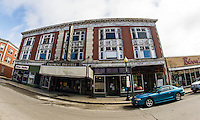 The Colonial Theater as seen from Main Street in Laconia.  (Karen Bobotas/for the Laconia Daily Sun)