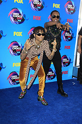 August 13, 2017 - Los Angeles, CA, USA - LOS ANGELES - AUG 13:  Swae Lee (L), Slim Jimmy of Rae Sremmurd at the Teen Choice Awards 2017 at the Galen Center on August 13, 2017 in Los Angeles, CA (Credit Image: © Kay Blake via ZUMA Wire)
