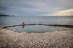 THEMENBILD - ein Mann angelt an der Adria, aufgenommen am 03. Juli 2020 in Novigrad, Kroatien // a man fishes in the Adriatic sea in Novigrad, Croatia on 2020/07/03. EXPA Pictures © 2020, PhotoCredit: EXPA/ JFK