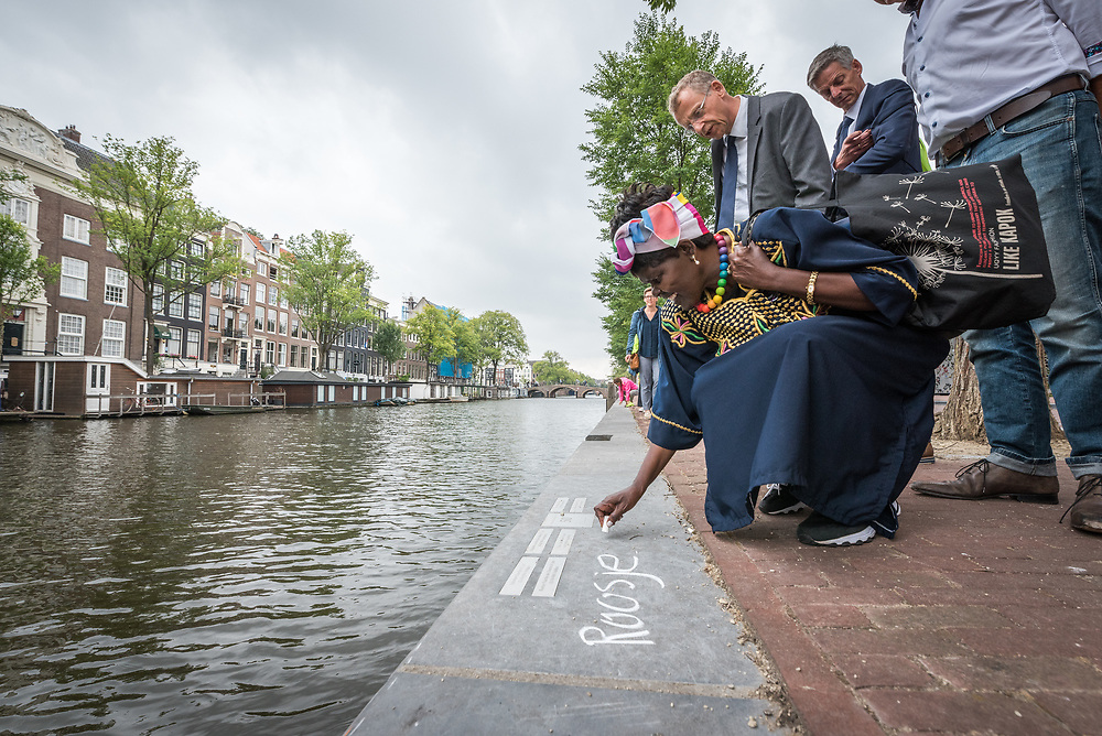 23 August 2018, Amsterdam, Netherlands: Dr Agnes Abuom, moderator of the World Council of Churches Central Committee. A ìWalk of Peaceî on 23 August in Amsterdam gathers hundreds of young people and religious leaders who, as they stroll together, celebrating the ecumenical movement and challenging each other to accomplish even more. The walk offers moments of reflection and prayer at several houses and buildings - including a synagogue, the Santí Egidio Community, the Armenian Church, and many others - all of which carried stories of blessings, wounds and transformation.