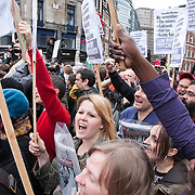 The funeral of former Prime Minister Margaret Thatcher who died Monday April 8. The funeral of Margaret Thatcher and the huge costs of it has sparked controversy and a number of protesters turned up to show their dissent and to turn their back on the procession.