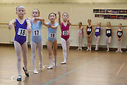 """Mcc0035274 . Daily Telegraph..Audition's for the London Children's Ballet in Fulham today and a chance for a role in a production of """"The Little Princess"""" at the Peacock Theatre in April 2012..In the nine year olds age group pictured here there were 100 auditionees for a mere 7 places...London 30 October 2011."""