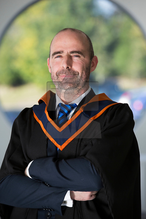 David Halpenny Stebannon Co Louth pictured at the Institute of Technology Blanchardstown (ITB) 2013 conferring ceremony. 2013 sees the largest number of students being conferred with awards at ITB with over 800 people receiving awards in areas like Mechatronic Engineering, Horticulture, Accounting and Finance, Early Childhood Care and Education and Information Security and Digital Forensics to name but a few. Picture Andres Poveda