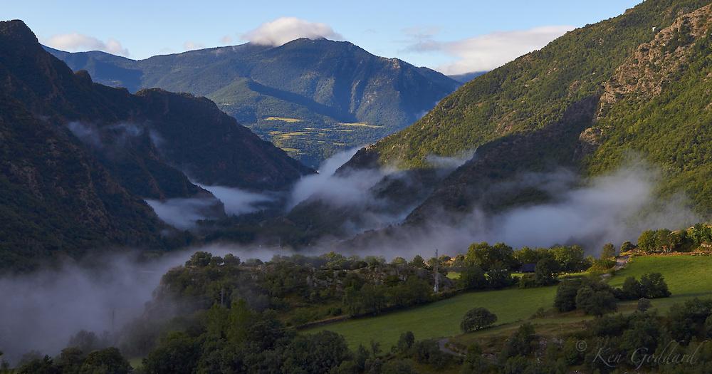 mountain, mist, morning, valley, cloud