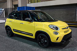 CHARLOTTE, NC, USA - November 11, 2015:  Fiat 500L on display during the 2015 Charlotte International Auto Show at the Charlotte Convention Center in downtown Charlotte.