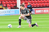 Adam Reach of Sheffield Wednesday taking the knee before the EFL Cup match between Walsall and Sheffield Wednesday at the Banks's Stadium, Walsall, England on 5 September 2020.