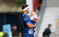 Rugby Union - 2021 / 2022 Gallagher Premiership - Round Three - Sale Sharks vs Exeter Chiefs - A J Bell Stadium - Sunday 3rd October 2021<br /> <br /> Jono Ross of Sale Sharks walks out for his 100th appearance <br /> <br /> Credit COLORSPORT/Lynne Cameron