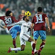 Besiktas's Manuel FERNANDES (C) during their Turkish Superleague Derby match Besiktas between Trabzonspor at the Inonu Stadium at Dolmabahce in Istanbul Turkey on Sunday, 06 March 2011. Photo by TURKPIX