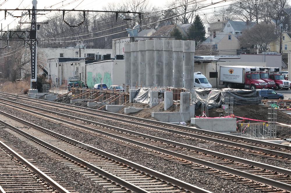 Construction Progress Railroad Station Fairfield Metro Center - Site visit 8 of once per month Chronological Documentation.