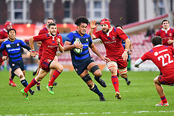 Hendrik Tui of Japan makes a break and runs in for a try<br /> <br /> Photographer Craig Thomas<br /> <br /> Japan v Russia<br /> <br /> World Copyright ©  2018 Replay images. All rights reserved. 15 Foundry Road, Risca, Newport, NP11 6AL - Tel: +44 (0) 7557115724 - craig@replayimages.co.uk - www.replayimages.co.uk