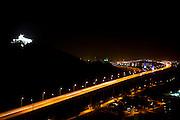 Vila Velha_ES, Brasil...A Terceira Ponte tem nome oficial de Ponte Deputado Darcy Castello de Mendonca e liga a cidade de Vitoria a Vila Velha, ambas no estado do Espirito Santo. Na foto Convento Nossa Senhora da Penha ao fundo...Terceira Ponte ( Deputado Darcy Castello de Mendonca bridge ) and  connects the city Vitoria and Vila Velha in Espirito Santo. In this photo Nossa Senhora da Penha convent in the background...Foto: LEO DRUMOND /  NITRO