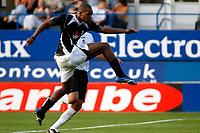 Photo: Marc Atkins.<br />Luton Town v Fulham. Pre Season Friendly. 21/07/2006.<br />Fulham's Collins John shoots on goal.