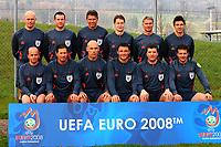 Fotball<br /> EM 2008<br /> 17.04.2008<br /> Foto: imago/Digitalsport<br /> NORWAY ONLY<br /> <br /> Teilnehmer des Schiedsrichter Workshops Euro 2008, hi. v. li.: Tom Henning Øvrebø (Norwegen), Pieter Vink (Niederlande), Roberto Rosetti (Italien), Lubos Michel (Slowakei), Peter Fröjdfeldt (Schweden), Massimo Busacca (Schweiz), vorn: Konrad Plautz...; ...(Österreich), Frank de Bleeckere (Belgien), Howard Webb (England), Manuel Mejuto Gonzalez (Spanien), Herbert Fandel (Deutschland), Kyros Vassaras (Griechenland)