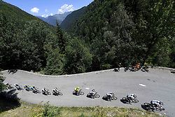 July 19, 2018 - Alpe D Huez, France - ALPE D'HUEZ, FRANCE - JULY 19 : Illustration picture of the riders & THOMAS Geraint (GBR) of Team SKY during stage 12 of the 105th edition of the 2018 Tour de France cycling race, a stage of 175.5 kms between Bourg-Saint-Maurice Les Arcs and Alpe D'huez on July 19, 2018 in Alpe D'huez, France, 19/07/2018  (Credit Image: © Panoramic via ZUMA Press)