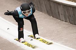 February 7, 2019 - Ljubno, Savinjska, Slovenia - Anna Rupprecht of Germany competes on qualification day of the FIS Ski Jumping World Cup Ladies Ljubno on February 7, 2019 in Ljubno, Slovenia. (Credit Image: © Rok Rakun/Pacific Press via ZUMA Wire)
