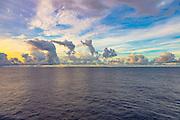 Clouds, ocean, storm, Bora Bora, French Polynesia