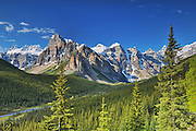 Canadian Rocky Mountains near Lake Louise<br /> Banff National Park<br /> Alberta<br /> Canada