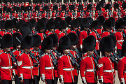 Mcc0023074 . Daily Telegraph..The Grenadier Guards rehearsing on Horseguards for Trooping the Colour in celebration of the Queen's Birthday on June 12 ..The Grenadier Guards only recently finished a six month tour of Helmand , Afghanistan on March 31...London 19 June 2010......Not AP.Not Reuters.Not PA.Not Getty.Not AFP.