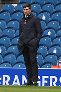 Steven Gerrard (Rangers) during the Scottish Premiership match between Rangers and Livingston at Ibrox, Glasgow, Scotland on 25 October 2020.