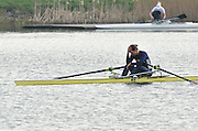 Hazewinkel, BELGIUM,  Women's Single Sculls, A Final, Annabel VERNON after taking 4th place in the A final,  at the Monday Morning Final.  British Rowing Senior Trails, Bloso Rowing Centre. Monday  12/04/2010.  [Mandatory Credit. Peter Spurrier/Intersport Images]